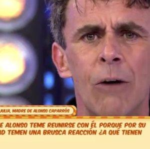 """La madre de Alonso Caparrós estalla en directo: """"No puedo verte porque me matas"""""""