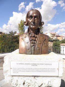 Busto de Antonio Gutiérrez de Otero en Aranda de Duero
