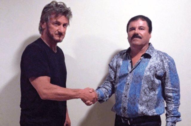 Sean Penn con 'El Chapo' Guzmán