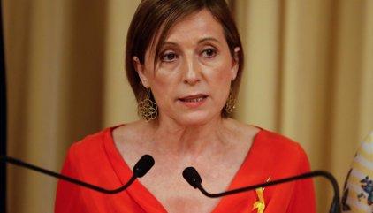 """Forcadell asegura que el Parlament no dará ni un paso atrás pese al """"golpe de Estado"""""""