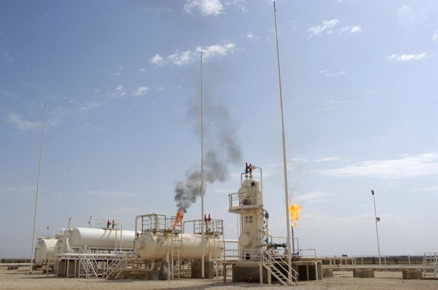 Campo petrolífero en Siria