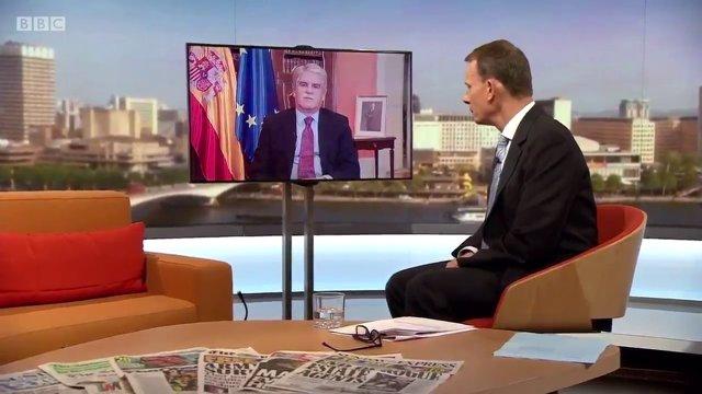 El ministro de Exteriores, Alfonso Dastis, en la BBC