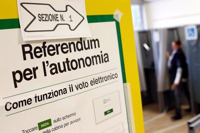 Consulta por la autonomía en Lombardía y el Véneto