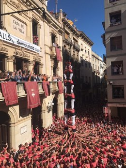 Jornada castellera de Santa Úrsula en Valls