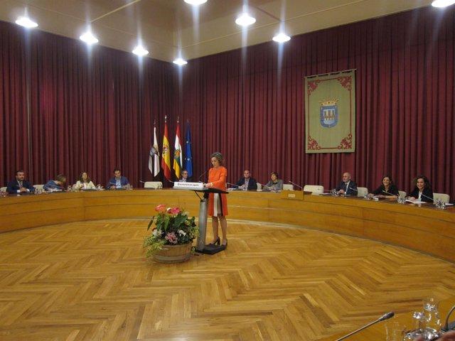 Cuca Gamarra, al iniciar su intervención en el Debate de la Ciudad
