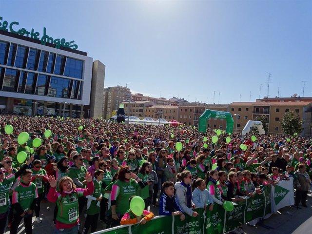 Salamanca.- Miles de personas participan en la marcha contra el cáncer