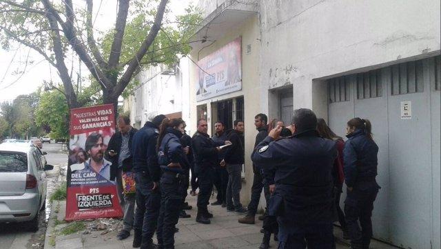 Detenciones en una sede del Frente de Izquierda