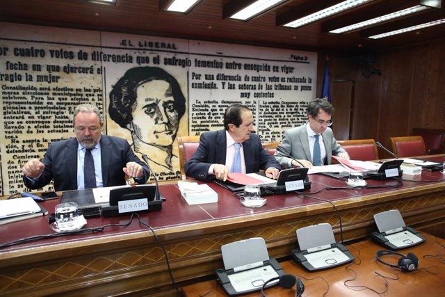 Juan José Lucas en la Comisión Constitucional en el Senado