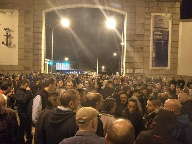 Protestas huelga Navantia