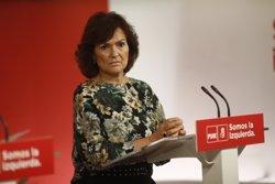 Calvo (PSOE) insisteix que l'aplicació del 155 a Catalunya és