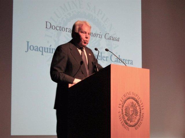 Felipe González en la Universidad de Almería