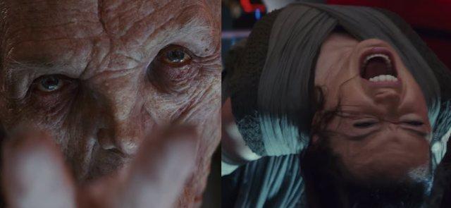 Líder Supremo Snoke y Rey en Los últimos Jedi
