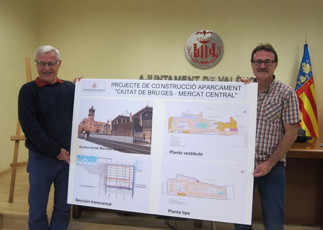 Ribó i Grezzi amb el projecte del pàrquing de la Plaça Ciutat de Bruixes