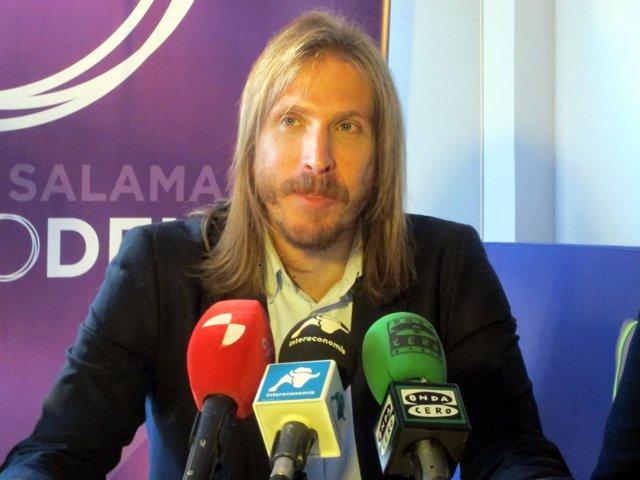 Pablo Fernández, en rueda de prensa.