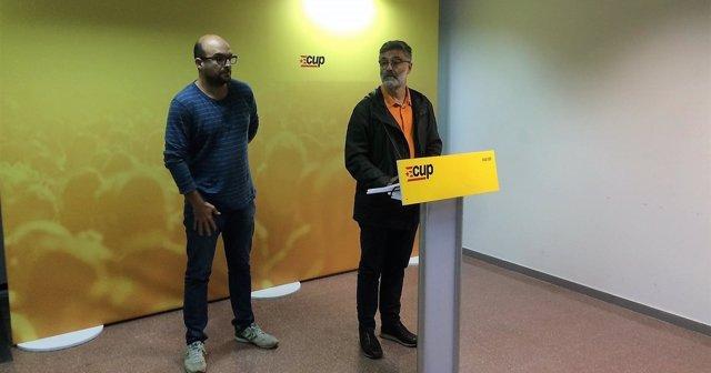Carles Riera y Joan Coma (CUP)