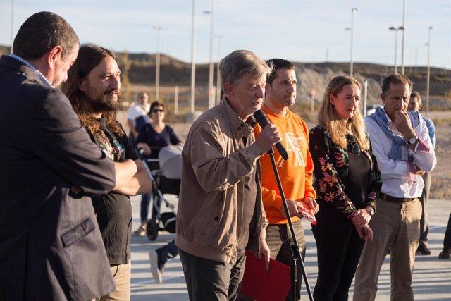 El alcalde inaugura el potrero de Arcosur