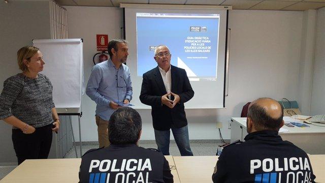 Pere Perelló y Jaume Tovar en la presentación del curso .