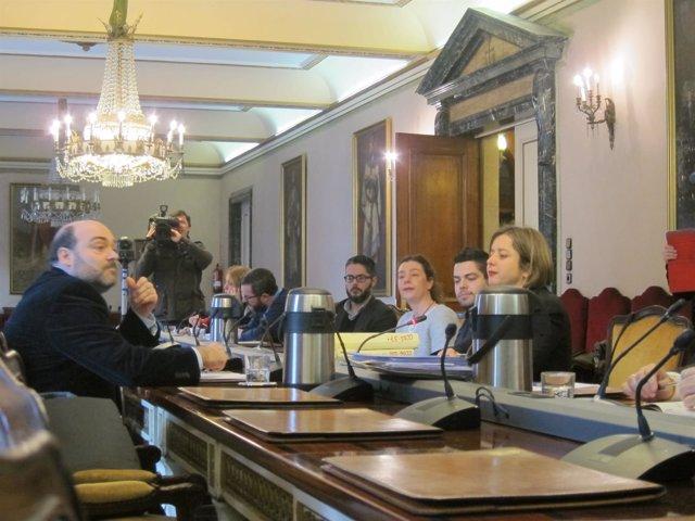 El exalcalde de Oviedo, Agustín Iglesias Caunedo, en comisión del Caso Aquagest