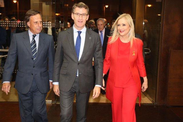La presidenta  de la Comunidad de Madrid y el presidente de la Xunta