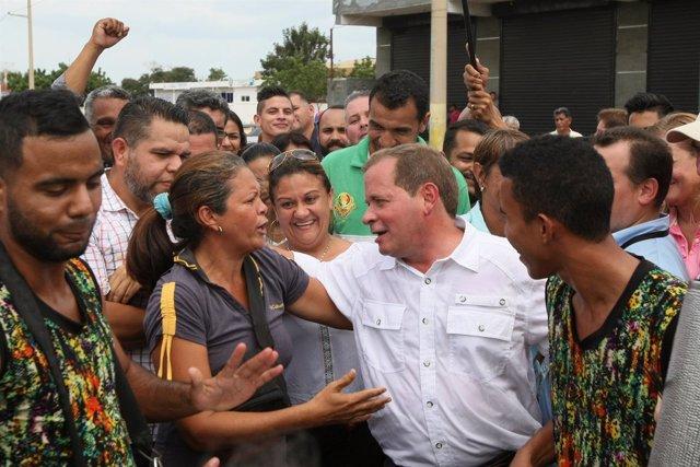 El opositor venezolano Juan Pablo Guanipa