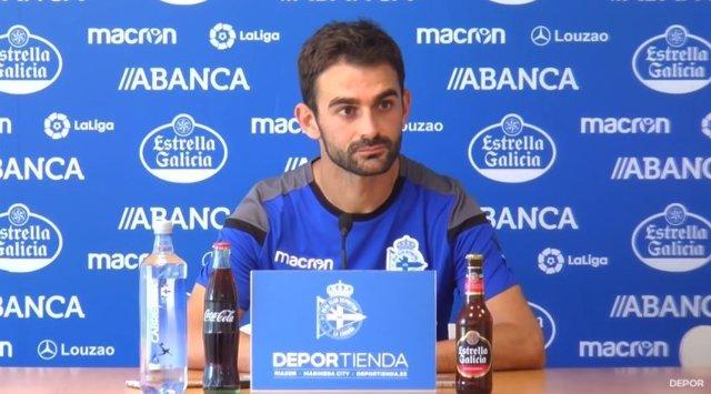 Adrián López, jugador del RC Deportivo de La Coruña