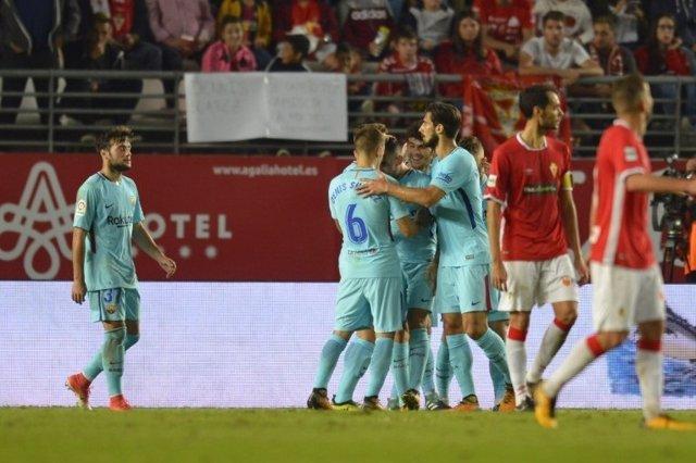 El Barcelona derrota al Murcia en Copa del Rey