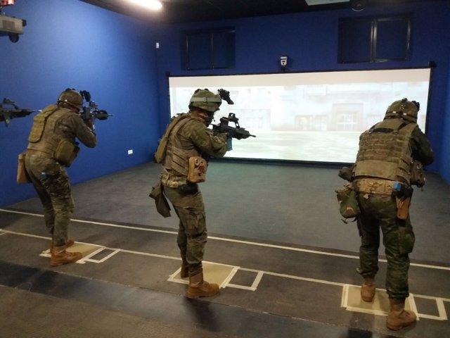 Ejercicio de simulación del ejército español, militares