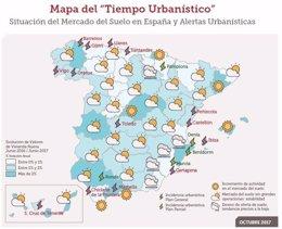 Mapa del tiempo urbanístico