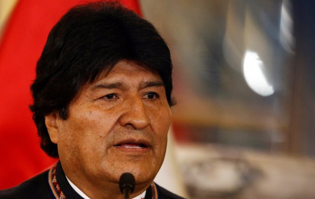 Bolivia's President Evo Morales attends a binational cabinet meeting at the Gove