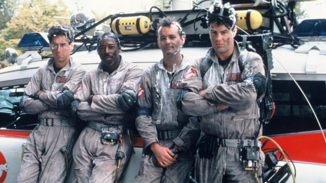 BILL MURRAY, HAROLD RAMIS, ERNIE HUDSON Y BILL MURRAY