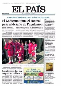 Portada El País 29 de octubre