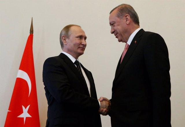 Vladimir Putin y Recep Tayyip Erdogan