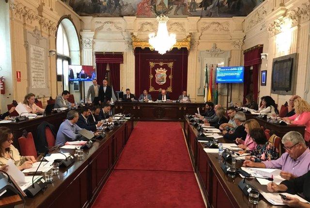 Pleno Ayuntamiento Málaga. Septiembre 2017