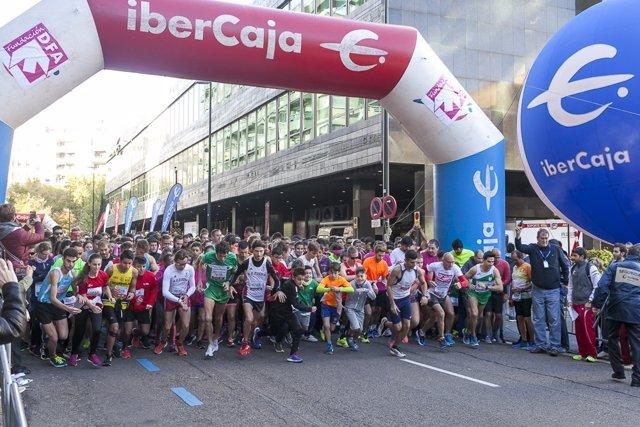 Un total de 8.600 corredores, en la Carrera Popular Ibercaja por la Integración.