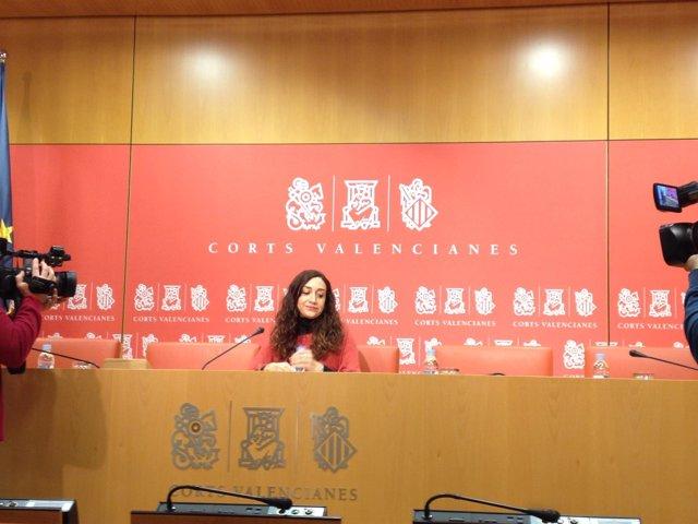 Isaura Navarro en la rueda de prensa este lunes en València