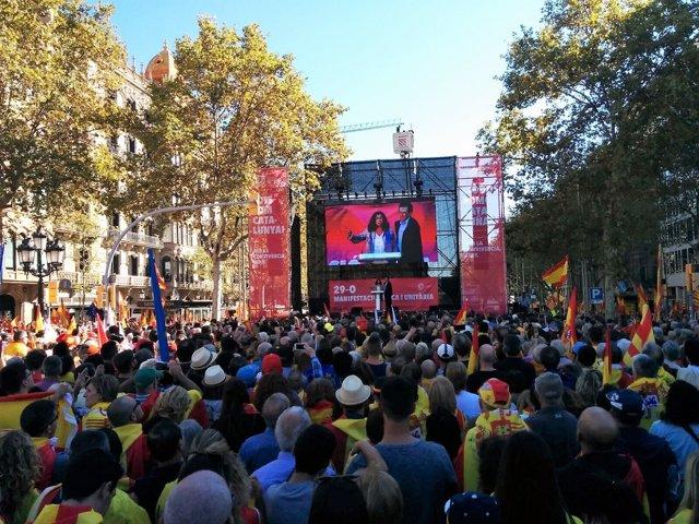 Manifestación de SCC en Barcelona