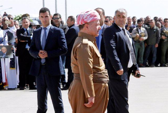 El presidente kurdo, Masud Barzani