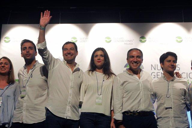 Congreso de NNGG en Málaga, con la presencia de Juanma Moreno