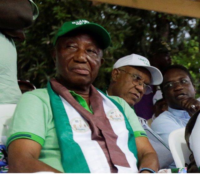 El candidato presidencial liberiano Joseph Boakai
