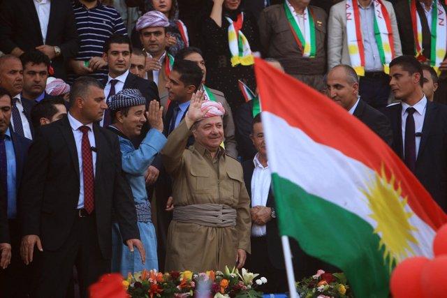 El presidente del Kurdistán iraquí, Masud Barzani