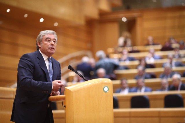 José Manuel Barreiro en el Pleno del Senado del 155