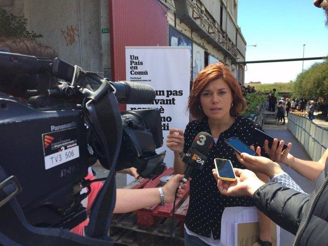 La coordinadora de comunicación de los 'comuns', Elisenda Alamany