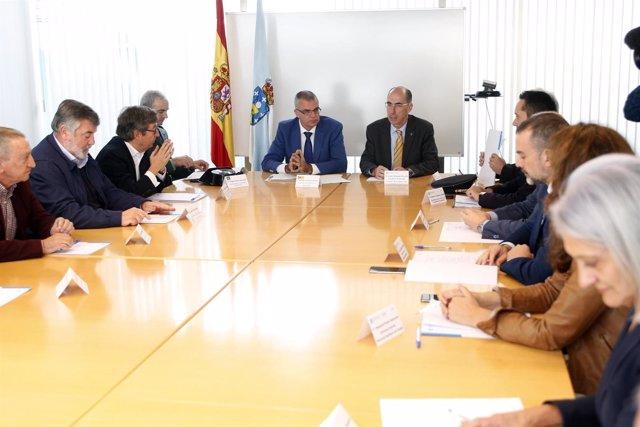Reunión sobre agresiones a profesionales sanitarios en Galicia,