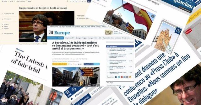 Prensa extranjera Puigdemont