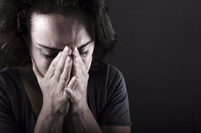 Mujer, triste, depresión.