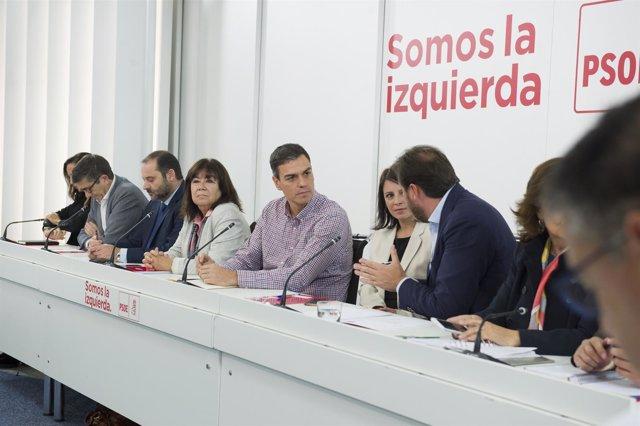 Pedro Sánchez preside la reunión de la Ejecutiva Federal del PSOE