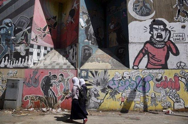 Presentadora condenada por incitar al libertinaje en Egipto.