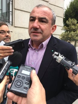 El presidente de la Diputación de Lugo, Darío Campos, ofrece declaraciones