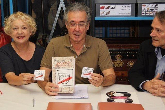 La dtora.Del Institut del Teatre Marga Puyo y el actor Ferran Rañé