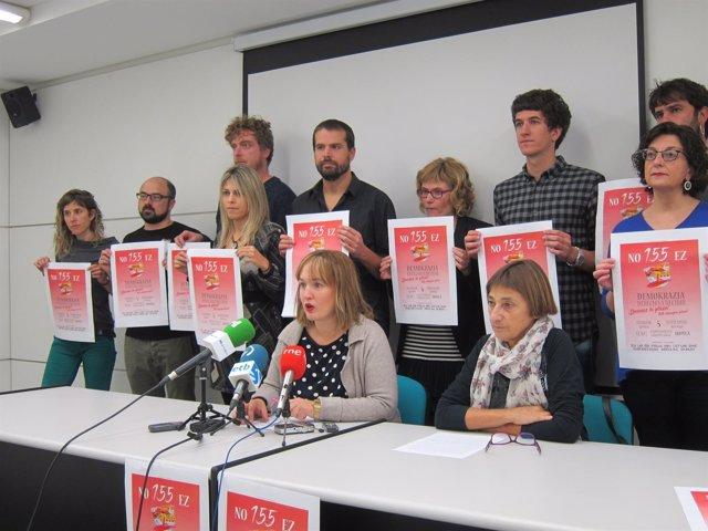 Presentación del manifiesto en solidaridad con el pueblo catalán